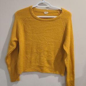 Garage mustard soft sweater